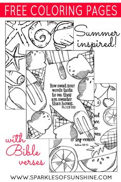 Celebrate summer with these free printable coloring pages. These summer inspired pages with Bible verses will keep you calm this summer.