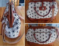 Carpet Bag in Bürotaschengröße, genäht von Karla im März 2018 Carpet Bag, Mary Poppins, Monogram, Michael Kors, Pattern, Bags, Fashion, Diy Bags, Monogram Tote
