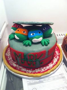 Birthday Ideas, Birthday Cake, Turtle Cakes, Duke, Ninja, Desserts, Food, Tailgate Desserts, Deserts
