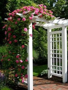 5 Inspiring Ways to Create a Cottage Style Garden – Town & Country Living – country front yard ideas Garden Archway, Garden Gates, Archway Decor, Garden Arbor With Gate, Garden Entrance, Entrance Ideas, Traditional Landscape, Garden Trellis, Rose Trellis