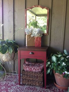 Sewing Machine Cabinet Made Into Holiday Cooler