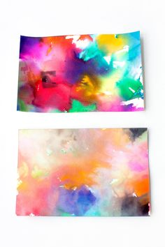 Snowy Day Tissue Paper Art is a creative winter process art project for kids of all ages. This colorful art activity is perfect for home or school!