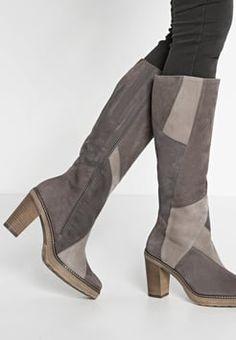 Gabor - Boots med høye hæler - fango/kiesel/zinn