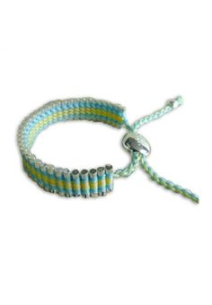 Cheap Links of London Bracelets Outlet, Links of London Friendship In Blue And Yellow Wide Outlet Online Sale