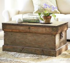 POTTERY BARN TRUNK - look-a-like and other great wood furniture diy ideas!