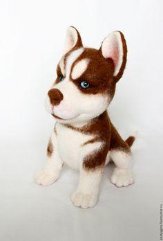 Купить щенок хаски Вульфик - щенок, щенок хаски, хаски, подарок, щенок из шерсти