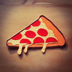 Pepperoni Pizza Slice Patch - Eat Fast Collection by RAD Boutique #RADBoutique #DaggersForTeeth #Pizza #Patch