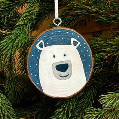 Its never too late to start a family tradition! Gifting an ornament each year is a great tradition to start with your kids, youll be able to send them off someday with meaningful ornaments for their first Christmas tree in their own home. This cute polar bear would make a beautiful addition
