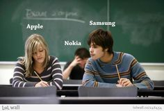 Bild des Tages: Apple and Samsung and last but not least Nokia