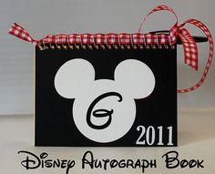 Disney Autograph Book.... attach pen with ribbon