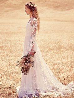 Spring Country Boho Wedding Dresses Bow Sash Bridal Gowns New Sexy Beach Dresses Bohemian Bride, Bohemian Wedding Dresses, Boho Dress, Vintage Bohemian, Bohemian Style, Bridal Gowns, Wedding Gowns, Lace Wedding, Gipsy Wedding