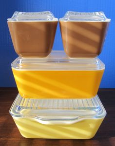 Pyrex  Town & Country  Refrigerator Dish Set by OwlzEyez on Etsy, $110.00