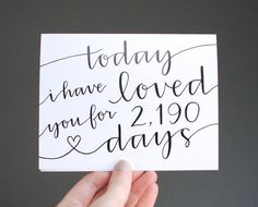 "{today i have loved you for ""#"" days 