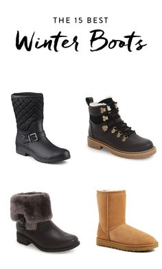 These warm and cozy boots solve both of our winter dilemmas: They are pleasantly chic and un-snowman-like.