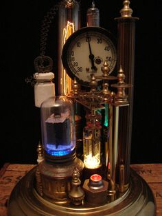 Upcycled Steampunk Lamp by BenclifDesigns on Etsy, $1050.00