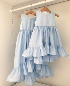 Dresses from 100 satin, new colors, access . Fashion Kids, Little Girl Fashion, Toddler Fashion, Fashion 2020, Little Girl Dresses, Girls Dresses, Baby Dresses, Peasant Dresses, Mother Daughter Fashion