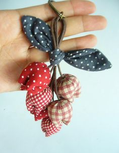 Flower Keychain Tulip Keychain key fob flower by BlueTembo on Etsy