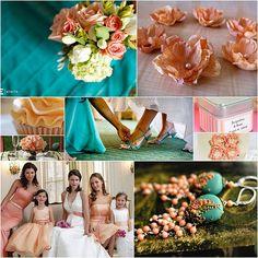 Peach & Teal Wedding