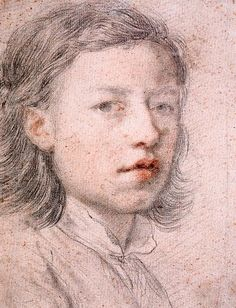 Self portrait aged 12 by anton raphael mengs...what impresses me the most is the raw talent as a 12 year old