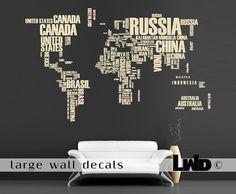Maps Wall Decor - great idea for the classroom...