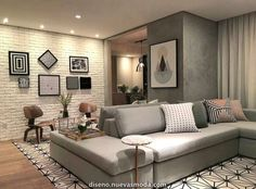 Best Home Decor ideas Home Living Room, Interior Design Living Room, Living Room Designs, Living Room Decor, Bedroom Decor, Living Room Lighting, Small Apartments, New Homes, House Design
