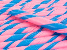 pink and blue candy sticks