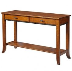 Solid Wood Amish Made Hall Table