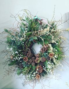 Florist Friday : On Trend - Natural Foliage : Christmas 2015 Christmas Door Wreaths, Christmas Flowers, Noel Christmas, Holiday Wreaths, Rustic Christmas, Christmas Crafts, Holiday Decor, Christmas Swags, Christmas Flower Arrangements