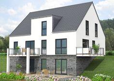 Mehrfamilienhaus SI-Family 258 ideal für Hanggrundstücke!Außenmaß: 13,38m x 9,99m / Dachneigung 45 Grad/ Kniestock 0,30m/ Gesamtwohnfläche 258,79 m²