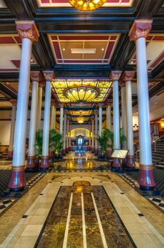 Driskell Hotel - Austin, Texas - So historic and gorgeous inside.