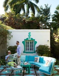 Gene Meyer and Frank de Biasi at home in Miami - photo Jason Schmidt