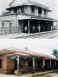 Dito, Noon: Malolos Railway Station, x — There is a renewed interest in opening the old Manila-Dagupan Railroad Line, including the Malolos Station. The Spanish American War, Then And Now Photos, Present Day, Manila, Philippines, Old Things, History, Building, Travel