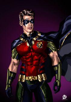 Dc Comics Film, Dc Comics Superheroes, Tim Drake Red Robin, Robin Dc, Robin Superhero, Superhero Design, Robin Costume, Batman Universe, Batman Art