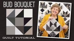 """Make a """"Bud Bouquet"""" Quilt with Jenny Doan of Missouri Star (Video Tutorial) Jenny Doan Tutorials, Msqc Tutorials, Quilting Tutorials, Quilting Ideas, Modern Quilting, Hans Moser, Missouri Star Quilt Tutorials, Charm Pack Quilts, Quilting Classes"""