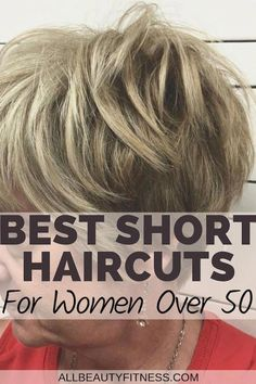 Here's the best short haircuts for women over 50 Experimenting with different looks and hairstyles is a basic nature of every woman. When a woman is above 50 years of age, choosing an appropriate hairstyle can play a vital role in making her look dec Short Shaggy Haircuts, Short Choppy Hair, Sassy Haircuts, Short Hairstyles For Thick Hair, Short Grey Hair, Haircuts For Fine Hair, Short Hair With Layers, Cute Hairstyles For Short Hair, Short Hair Cuts For Women