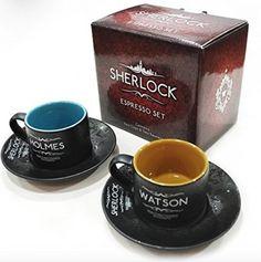Sherlock Espresso Set in Presentation Box. Official BBC