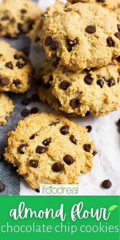 Gluten Free Cookies, Gluten Free Baking, Gluten Free Desserts, Healthy Baking, Keto Snacks, Healthy Desserts, Healthy Food, Stevia Recipes, Baking Recipes
