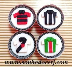Cupcakes Camisas de futebol! curta nossa página no Facebook: www.facebook.com/sonhodocerj