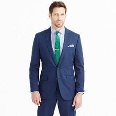 J Crew: Crosby suit jacket in Italian cotton piqué Color: French Navy