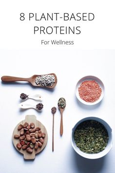 8 PLANT-BASED PROTEINS For Wellness Where do you get your protein? If you practice a predominantly plant-based lifestyle, then you've probably been asked this question over and over again. It's sometimes difficult for people to understand what your sources of