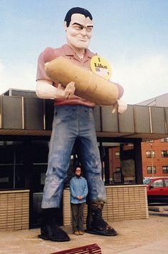 Muffler Man with Hot Dog, Cicero, Illinois
