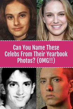 Quiz: How Many Stars Can You Recognize From Their Yearbook Photos?