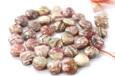 Rhodochrosite Smooth Heart / 9 to 10.50 mm / 36 Pieces / ST-473 by beadsofgemstone on Etsy