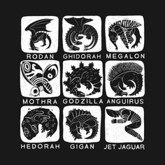 Shop Kaiju are Cyclical godzilla t-shirts designed by Citysaurus as well as other godzilla merchandise at TeePublic. Godzilla Wallpaper, Jaguar Wallpaper, Tattoo Fonts, I Tattoo, Godzilla Tattoo, All Godzilla Monsters, Afraid Of The Dark, Poster S, Movie T Shirts