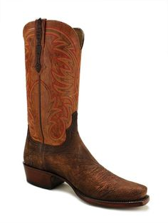 Mens Lucchese Heritage Sheep Brown Boots Hl1509.73 - Texas Boot Company is located in Bastrop, Texas. www.texasbootcompany.com