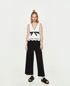 ZARA - TRF - TOP WITH CONTRASTING TRIMS