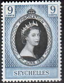 Seychelles Elizabeth II 1953 Coronation Fine Mint SG 173 Scott 172 You can Buy it now £0.48 Other Seychelles Stamps HERE