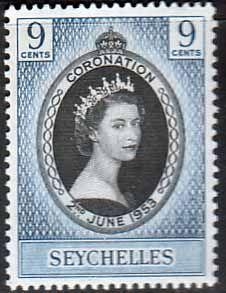 Seychelles Elizabeth II 1953 Coronation Fine Mint SG 173 Scott 172 You can Buy it now £0.48 Other Seychelles Stamps HERE
