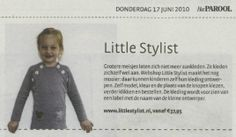 www.littlestylist.com: de webshop voor de allerjongste modeontwerpster in het Parool.  Meisjeskleding: customize hier je eigen jurk, tuniek of schooltas.