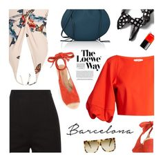 """""""Barcelona"""" by magdafunk ❤ liked on Polyvore featuring Banana Republic, TIBI, Katie Eary, Derek Lam, Loewe and Chanel"""